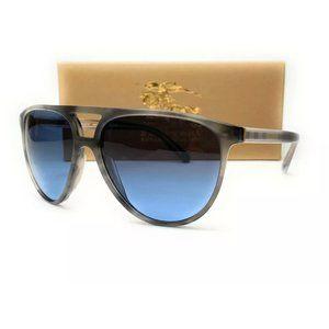 Burberry Men's Striped Grey and Blue Sunglasses!